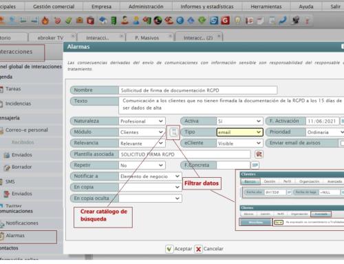 581 Process automation. RGPD documentation signature request.